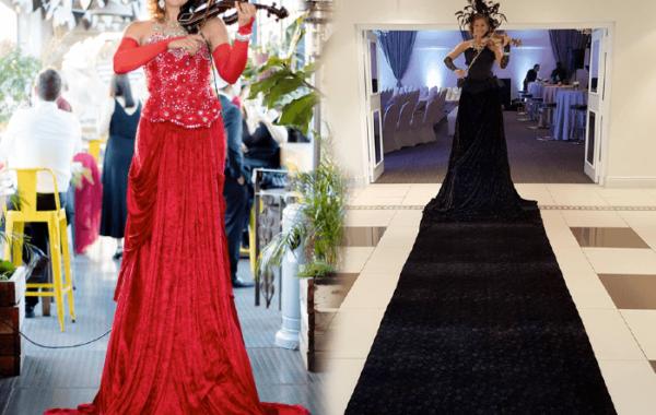 Red/Black Carpet Violin